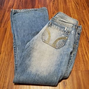 Hollister Mid Rise Super Flare Jeans